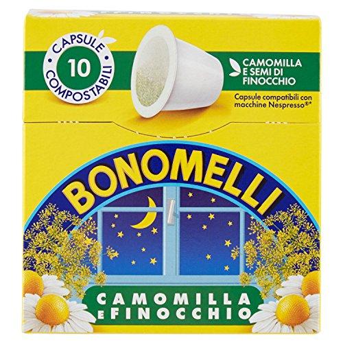 Bonomelli - Camomilla e finocchio - 5 confezioni da 10 capsule [50 capsule]
