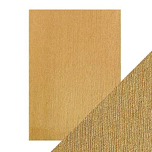 Tonic Studios Fertigen Sie perfekte A4 Luxus geprägte Karte - Zimt Seide, Gold -