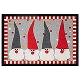 HANSE Home Design Fussmatte Schmutzfangmatte Weihnachtswichtel, Polyamid, Rot Grau, 40 x 60 x 0.7 cm
