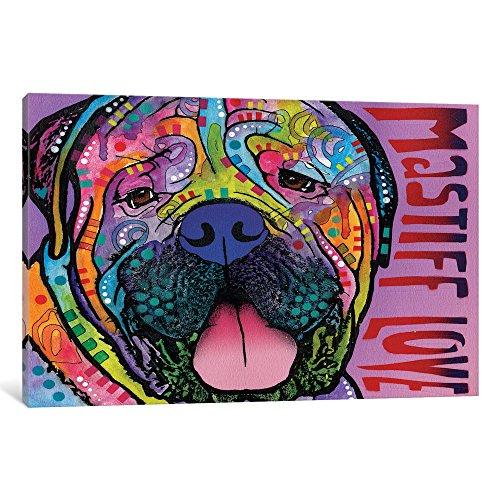icanvasart icanvas Mastiff Love Galerie verpackt Leinwand Kunstdruck von Dean Russo, 30,5x 1,9x 45,7cm - Russo Dean Artwork