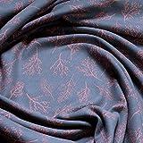 Stoff Baumwolle Lycra Single Jersey grau Nachtbeere kbA