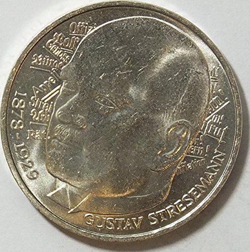 BRD (BR.Deutschland) Jägernr: 422 1978 D Stgl./unzirkuliert Silber 1978 5 DM Stresemann (Münzen für Sammler) (1978 Münze)