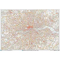 Greater London - Postcode District Wall Map-Plastic Coated 2A (119cm x 168cm)