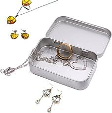 Cold Toy Metall Zinn Silber Flip Kleine Aufbewahrungsbox Fall Organizer Für Geld Münze Candy Keys
