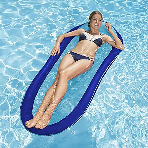 ghc Wasser Liegestuhl Pool Schwebebett Tragbare Schwimmen Aufblasbare Float Sommer Luft Wasser Hängematte Pool Lounge Wasser Schwebebett Strandkorb Schwimmende Reihe Luftmatratze -