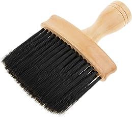Baoblaze Groß Friseur Nackenpinsel Friseurbedarf Nackenwedel mit Holz Griff