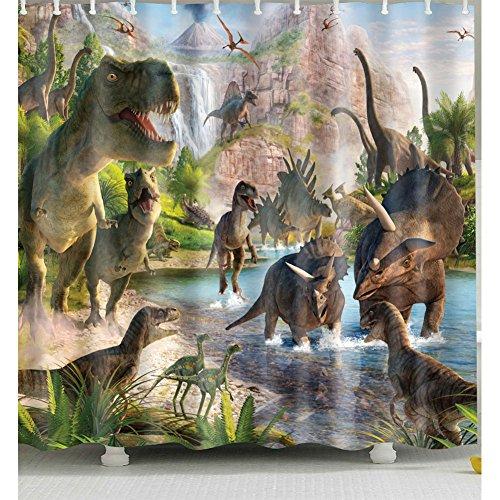 Dinosaurio cortina de ducha 1pc para hogar y baño