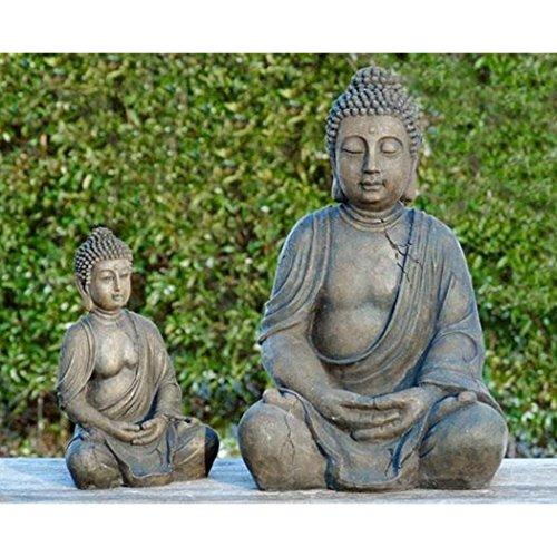Estatua de Buda Decoración escultura Altura 40cm de resina de color antracita