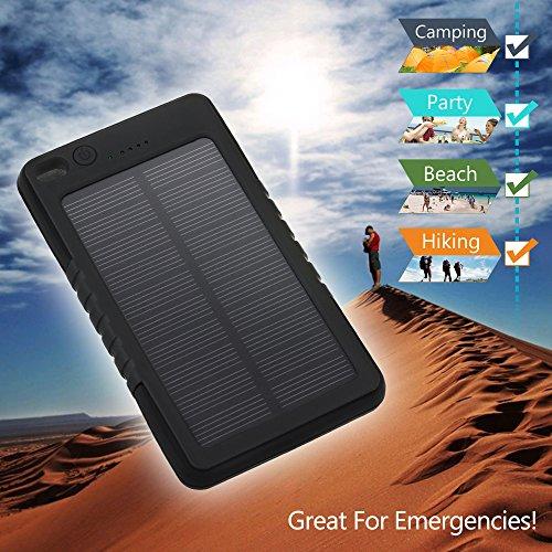 Pannello Solare Con Porta Usb : Victsing caricabatterie portatile mah con pannello