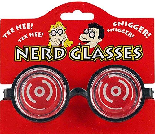 1 x Nerd Geek Unisex Kostüm Neuheit Brillen