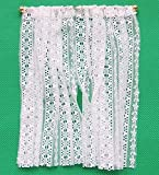 Melody Jane Puppenhaus weiß gehäkelte Spitze Vorhänge lang Fenster Netze Miniatur
