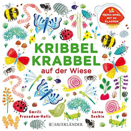 Kribbel Krabbel auf der Wiese: Ein Memospiel mit 30 Klappen (Kurze Klappe)