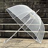 Xue-zhenghao Anti - Wind Lange mit Transparenten Regenschirm Schirm
