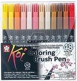 Pinselstift Koi Coloring Brush Set, 48 Farben hergestellt von Sakura Koi