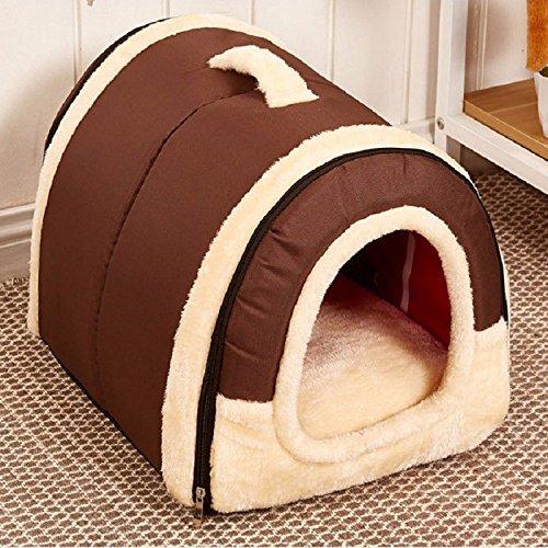 Vendita calda della principessa letto cane piccola grande cani case kennel caldo casa pantofole pet base del cane cuscino staccabile pet letto per cani trasporto libero (l, marrone)