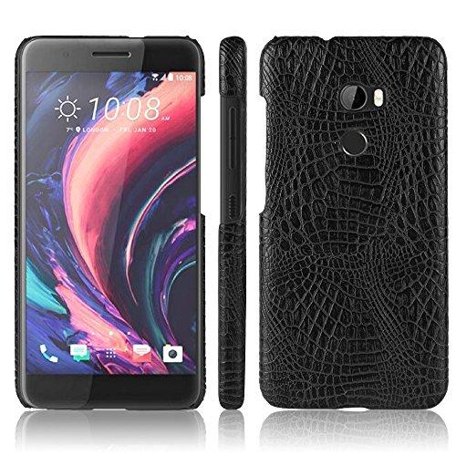 HTC One X10 Hülle, CHENXI Slim Krokodil Textur Hard PC Schutzhülle Abdeckung Schutz Handy Case für HTC One X10 Schwarz