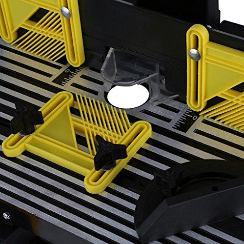 EBERTH Oberfräsentisch (870 x 330 mm Arbeitstisch, 155 mm Fräskorbdurchmesser, 280 mm Arbeitshöhe, beidseitige Tischverlängerung, Winkelanschlag, Schutzschalter) - 2