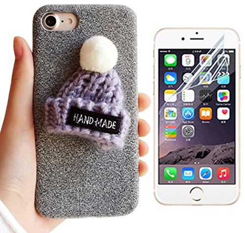 iphone-7-funda-para-apple-7-47-carcasa-sunroyalr-pc-plastico-dura-interior-xmas-felpa-plush-sombrero