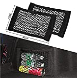 9 MOON Car Boot Cargo Net Magic Sticker Luggage Mesh Oganizer Bag,Pocket Bag Double Layer Bag With Adhesive,pack of 2