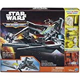 STAR DESTROYER First Order STAR WARS Playset MICROMACHINES Star Wars Grande Playset NAVE SPAZIALE con 4 FIGURE + 8 Modellini Hasbro B4080