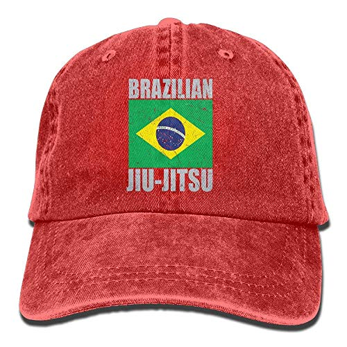 CrownLiny Brazilian Jiu Jitsu Vintage Washed Dyed Cotton and Denim Hats Adjustable Baseball Caps Black