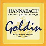 Hannabach Cordes Guitare classique Série 725 Medium/High tension Goldin Jeu de 3 Basses