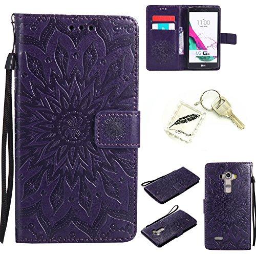 Preisvergleich Produktbild Silikonsoftshell PU Hülle für LG G4 (5,5 Zoll ) Tasche Schutz Hülle Case Cover Etui Strass Schutz schutzhülle Bumper Schale Silicone case+Exquisite key chain X1#AD (1)