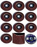 50 Stück Fächerscheiben - Ø 125 mm x 22,23 mm - Korn 40 - braun/Standard Fächerscheiben/Schleifmopteller/Fächerschleifscheibe
