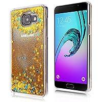Coque Galaxy A5 (2016), SpiritSun Housse Étui Clair Étoile pour Samsung Galaxy A5 (2016) SM-A510 Ultra Mince Rigide Strass Coque Crystal Case PC Dur Couverture - Or