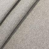 Baumwollstoff Bündchenstoff Meterware Hell-Grau meliert