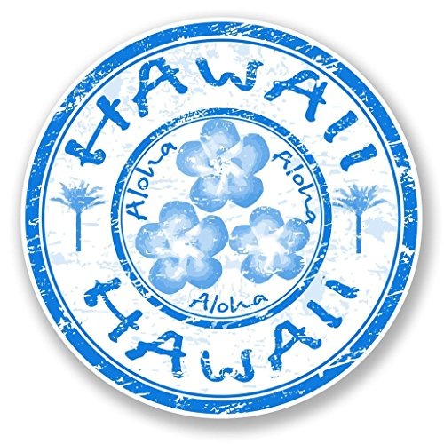 Preisvergleich Produktbild 2 x 30cm / 300mm Aloha Hawaii Vinyl SELBSTKLEBENDE STICKER Aufkleber Laptop reisen Gepäckwagen iPad Zeichen Spaß 6758