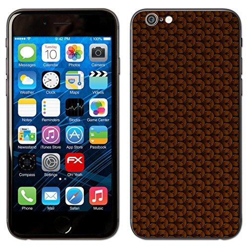 """Skin Apple iPhone 6 """"FX-Carbon-Red"""" Designfolie Sticker FX-Honeycomb-Brown"""