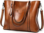 Women PU Leather Tote Bag Large Capacity Shoulder Bags Waterproof ANTI-Scratch Handbag