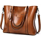 Women PU Leather Tote Bag Large Capacity Shoulder Bags Waterproof ANTI-Scratch Handbag