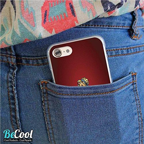 BeCool®- Coque Etui Housse en GEL Flex Silicone TPU Iphone 8, Carcasse TPU fabriquée avec la meilleure Silicone, protège et s'adapte a la perfection a ton Smartphone et avec notre design exclusif. Nat L1589
