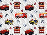 Baumwolljersey Feuerwehrmann Sam 4, Meterware ab 0,5 m/Top-Qualität/Öko-Tex 100 / Stoffe Hemmers Exklusiv für Baumwolljersey Feuerwehrmann Sam 4, Meterware ab 0,5 m/Top-Qualität/Öko-Tex 100 / Stoffe Hemmers Exklusiv