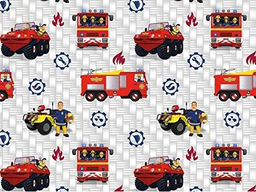 Baumwolljersey Feuerwehrmann Sam 4, Meterware ab 0,5 m/Top-Qualität/Öko-Tex 100 / Stoffe Hemmers Exklusiv