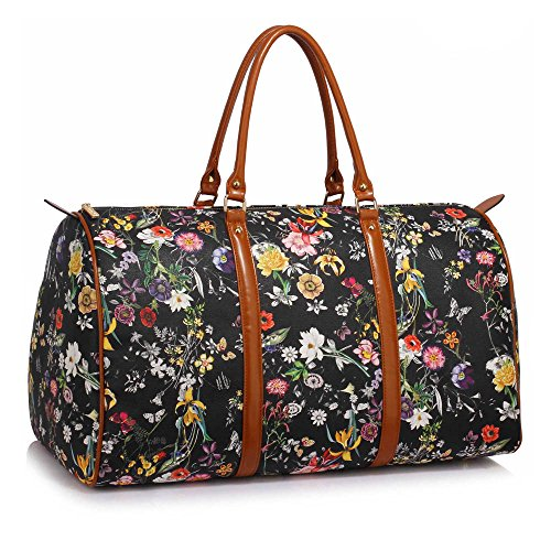 842127304ef0a Damen Duffel Taschen Faux Leder oben Griff Tasche Oben Reißverschluss  Schließung Öffnen Taschen und Reißverschluss Taschen