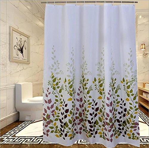 Dusche Vorhang Vorhänge Polyester Mildewproof Verdickte Tomaten keine Verformung nicht verblassen (Schlüsselloch-center)