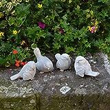 Sonderangebot: Set Stück 4 Vögel Blaumeise Tierfiguren Steinguss frostfest