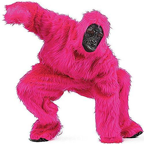 Limit Sport Kostüm Plüsch Gorilla für Erwachsene, Farbe Pink, Größe L (ma067s)