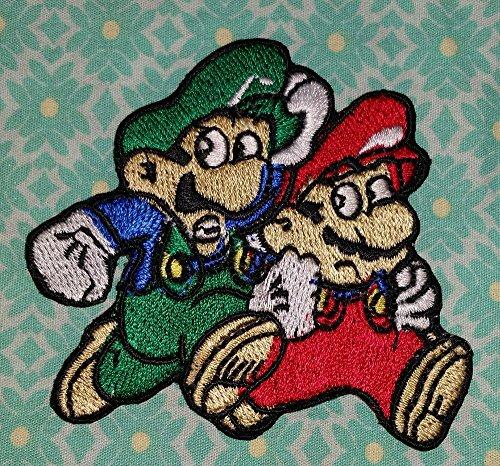 Mario e Luigi fratelli caratteri 4Lyf. Combo Pack ricamato Patch ricamato ferro On/Sew On Patch da gadgets2sel