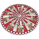 Not applicable Traditioneller Weihnachtsbaumrock mit weihnachtlichem Retro-Lebkuchenbäcker-Design, 91 cm (36 Zoll)