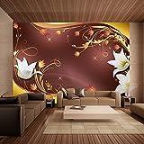 murando – Papier peint intissé – 350x256 - Papier peint – Trompe l oeil - Tableaux muraux – Déco – XXL Fleurs abstraction 10110906-146