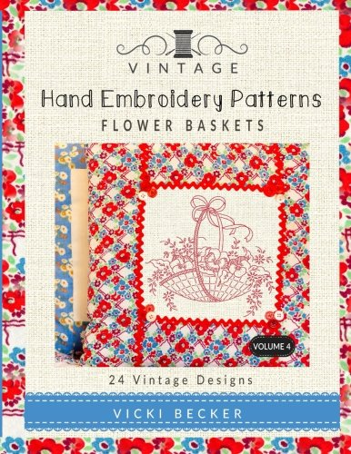 Vintage Embroidery Patterns Flower Baskets