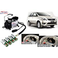 Auto Pearl - Combo of Metal Tire Inflaltor 12 Volts 150 PSI Heavy Duty Piston Compressor and Air Alet for - Innova 2012-2013