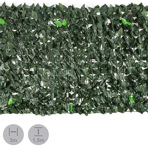 Blumfeldt Fency Dark Leaf • Clôture Pare-Vue • Clôture Brise-Vue • Paravent • Montage Simple et Rapide • Grillage métallique enrobé de Plastique • Attaches Vertes incluses • Mélange Vert foncé