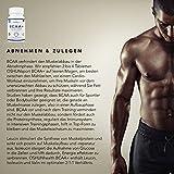 BCAA Tabletten | 1200mg verzweigtkettige Aminosäuren | BCAA+ mit zugesetztem Vitamin B6 als Absorptionhilfe | Leucin, Isoleucin und Valin im optimalen 2 1 1 Nährstoffverhältnis | Aminosäure-Tabletten (nicht Kapseln) | Geeignet für Männer und Frauen | in GB erzeugt und GMP-zertifiziert | OSHUNsport Ernährung | Einführungsangebot nur für begrenzte Zeit - 4