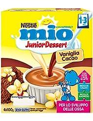Mio Merenda al Latte Vaniglia e Cacao senza Glutine, per Bambini da 1 a 3 Anni - Pacco da 4 x 100 gr - Totale: 400 gr