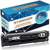 STAROVER 1x Schwarz Tonerkartuschen Ersatz für HP 201A / 201X CF400A / CF400X Toner Patronen für HP Color LaserJet Pro MFP M252dw M252n M277dw M277n M274n M274dw Drucker
